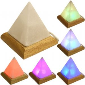 Pyramid USB Colour Changing Himalayan Salt Lamp
